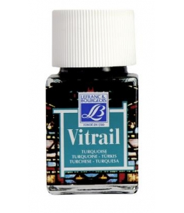 Краска по стеклу Vitrail Lefranc Bourgeois 050, турецкий голубой, 50 мл