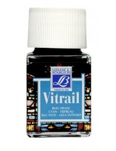 Краска по стеклу Vitrail Lefranc Bourgeois 087, голубой, 50 мл