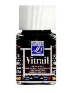 Краска по стеклу Vitrail Lefranc Bourgeois 102, насыщенный коричневый, 50 мл