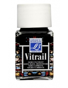 Краска по стеклу Vitrail Lefranc Bourgeois 267, черный, 50 мл