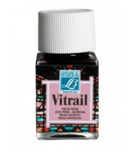 Краска по стеклу Vitrail Lefranc Bourgeois 374, античный розовый, 50 мл