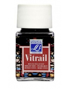 Краска по стеклу Vitrail Lefranc Bourgeois 433, ярко-красный, 50 мл