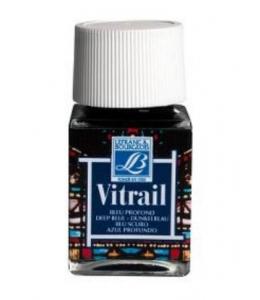 Краска по стеклу Vitrail Lefranc Bourgeois 465, насыщенный голубой, 50 мл