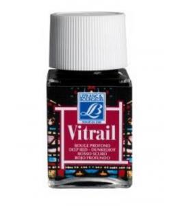 Краска по стеклу Vitrail Lefranc Bourgeois 466, насыщенный красный, 50 мл