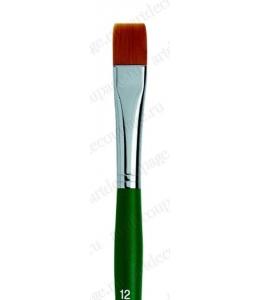 Кисть плоская Fino ровный край № 12, синтетика, Marabu (Германия)