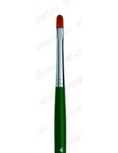 Кисть плоская Fino круглый край № 4, синтетика, Marabu (Германия)