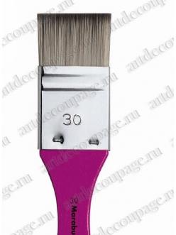 Кисть флейц № 30 синтетика для художественных работ, Marabu Decoration&Hobby