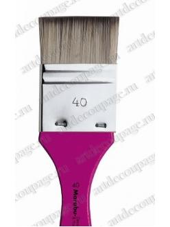 Кисть флейц № 40, синтетика, для художественных работ, Marabu Decoration Hobby