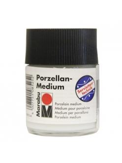 Порцеллановый лак клей для декупажа под обжиг Marabu Porzellan Medium, 50 мл