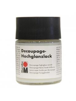 Лак для декупажа глянцевый Marabu Decoupage Hochglanzlack 849, 50 мл