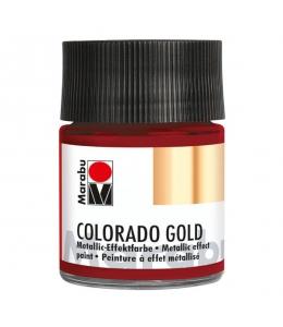 Краска с эффектом металла Colorado Gold 732 красный, 50 мл, Marabu (Германия)