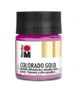 Краска с эффектом металла Colorado Gold 733 розовый, 50 мл, Marabu (Германия)