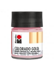 Краска с эффектом металла Colorado Gold 734 розово-золотой, 50 мл, Marabu (Германия)