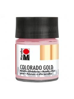 Краска с эффектом металла Colorado Gold 734 розово-золотой, 50 мл, Marabu