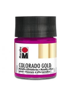 Краска с эффектом металла Colorado Gold 735  фуксия, 50 мл, Marabu