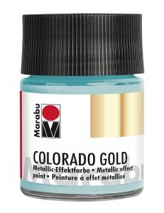Краска с эффектом металла Colorado Gold 758 бирюзовый, 50 мл, Marabu (Германия)