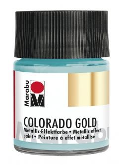 Краска с эффектом металла Colorado Gold 758 бирюзовый, 50 мл, Marabu
