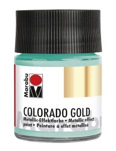 Краска с эффектом металла Colorado Gold 761 серебряный зеленый, 50 мл, Marabu (Германия)