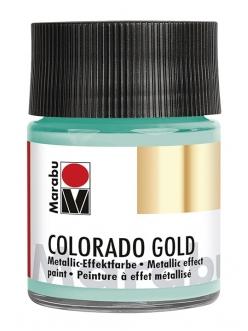 Краска с эффектом металла Colorado Gold 761 серебряный зеленый, 50 мл, Marabu