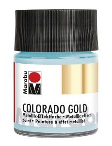 Краска с эффектом металла Colorado Gold 764 серебряный голубой, 50 мл, Marabu (Германия)
