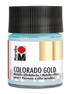 Краска с эффектом металла Colorado Gold 764 серебряный голубой, 50 мл, Marabu
