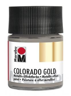 Краска с эффектом металла Colorado Gold 772 антрацит мерцающий, 50 мл, Marabu