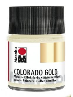 Краска с эффектом металла Colorado Gold 781 античное серебро, 50 мл, Marabu