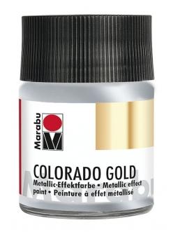 Краска с эффектом металла Colorado Gold 782 серебро, 50 мл, Marabu
