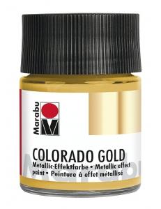 Краска с эффектом металла Colorado Gold 784 золото, 50 мл, Marabu (Германия)