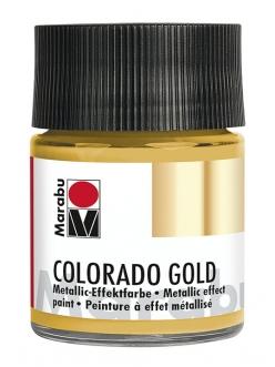 Краска с эффектом металла Colorado Gold 784 золото, 50 мл, Marabu