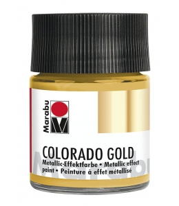 Краска с эффектом металла Colorado Gold 784 золото, 50 мл, Marabu (Германия)