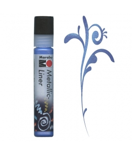 Контур металлик Marabu-Liner Metallic 752, цвет синий, 25 мл, Германия
