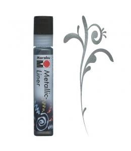Контур металлик Marabu-Liner Metallic 779, цвет графит, 25 мл, Германия