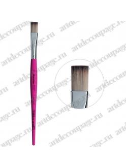 Кисть плоская Decoration Hobby № 12, синтетика, Marabu
