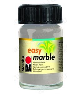 Краска для марморирования Easy Marble Marabu 082 серебряный, 15мл