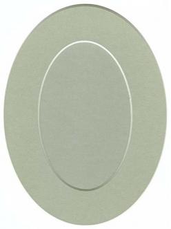 Декоративное паспарту, форма овальная, цвет бежево-серый, 19,5-14,5 см