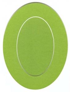 Декоративное паспарту, форма овальная, цвет салатовый, 19,5-14,5 см