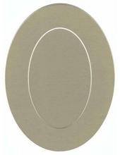 Декоративное паспарту, форма овальная, цвет темно-бежевый, 19,5-14,5 см