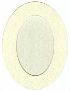 Декоративное паспарту, форма овальная, цвет мраморный бледный, 19,5-14,5 см