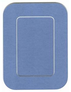 Декоративное паспарту, форма прямоугольная, цвет синий, 19,5-14,5 см