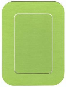 Декоративное паспарту, форма прямоугольная, цвет салатовый, 19,5-14,5 см