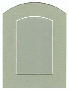 Декоративное паспарту, форма арка, цвет бежево-серый, 19,5-14,5 см