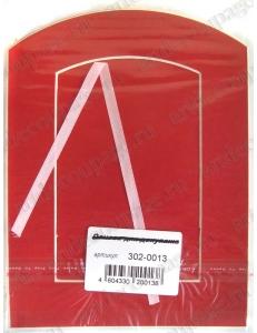 Декоративное паспарту, форма арка, цвет красный, 19,5-14,5 см