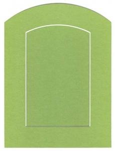 Декоративное паспарту, форма арка, цвет салатовый, 19,5-14,5 см