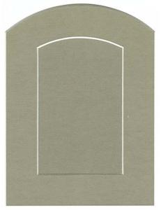 Декоративное паспарту, форма арка, цвет темно-бежевый, 19,5-14,5 см