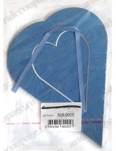 Декоративное паспарту, форма сердце вертикальное, цвет синий, 19,5-14,5 см