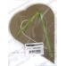 Декоративное паспарту, форма сердце вертикальное, цвет темно-бежевый, 19,5-14,5 см