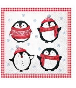 """Салфетка для декупажа """"Маленькие пингвины"""", 33х33 см, Paw (Польша)"""