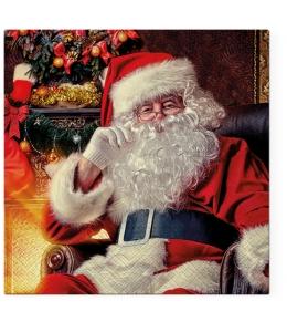 "Салфетка для декупажа ""Санта в кресле"", 33х33 см, Paw (Польша)"