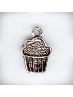 """Подвеска металлическая """"Кексик"""" , размер 13x11x2 мм, цвет античное серебро"""